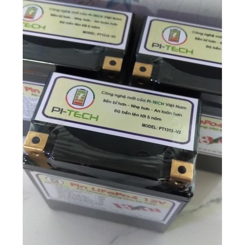 ẮC QUY XE MÁY - Pin Lithium PI-TECH 7Ah/8Ah/13Ah độ bền lên tới 5 năm dành cho anh em độ xe