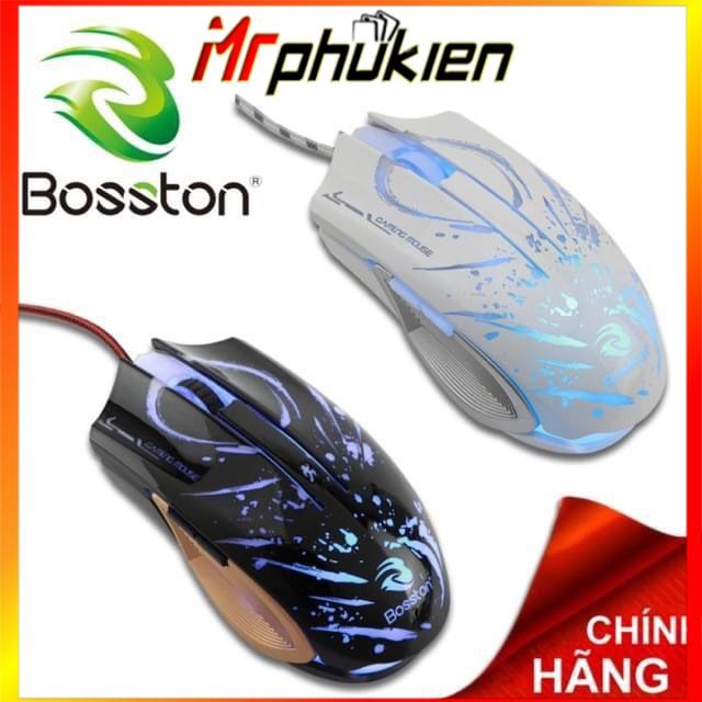 Chuột Chơi Game Có Dây Bosston GM100 2400DPI LED - MrPhukien