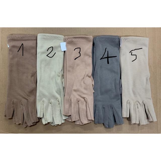 combo 2 đôi găng 3t cotton cắt 5 ngón 3 lớp