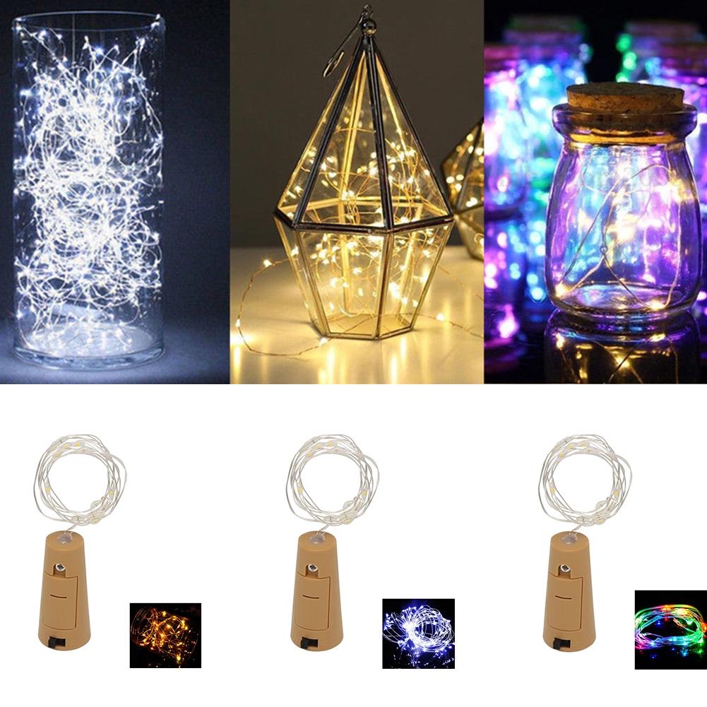 EMVANV 2M LED Wine Bottle Light, 8 Packs Battery Operated Cork Shape Fairy Copper Wire Strip Lamp