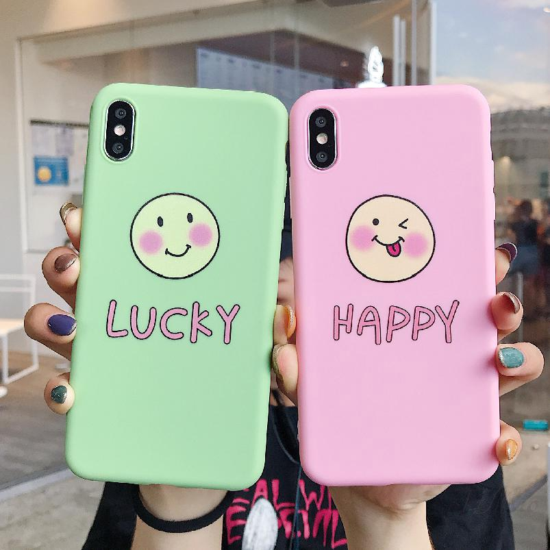 COD OPPO Korean Style Lucky Smile Phone Mobile Shell Oppo a5 a3 Protective Cover 476