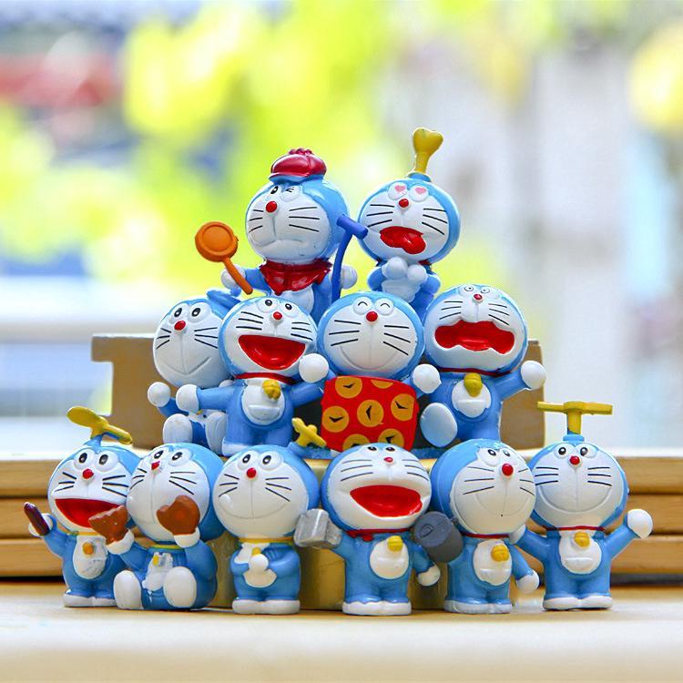 IN STOCK💎 12PCS Treasure chest Doraemon Dolls For Kids Gift