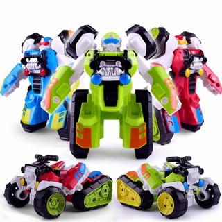✨PuppyandKitty✨ Children Novelty Hand One Step Deformed Robot Car Model Toy