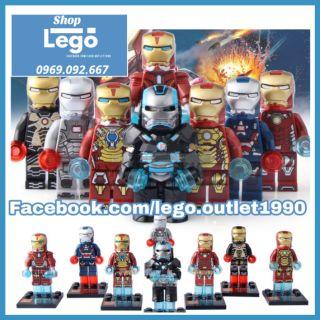 Xếp hình Iron man Ngưởi sắt trong biệt đội Avengers Lego Minifigures Sheng yuan Sy677 thumbnail