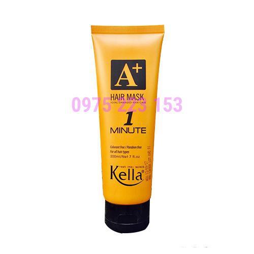 Kem hấp phục hồi 1 phút Kella A+ Minute Hair Mask Premium 200ml