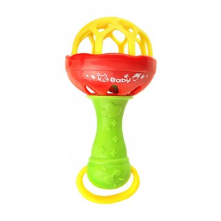Intelligence Grasping Gums Plastic Hand Bell Baby Rattles Toy Funny Toys