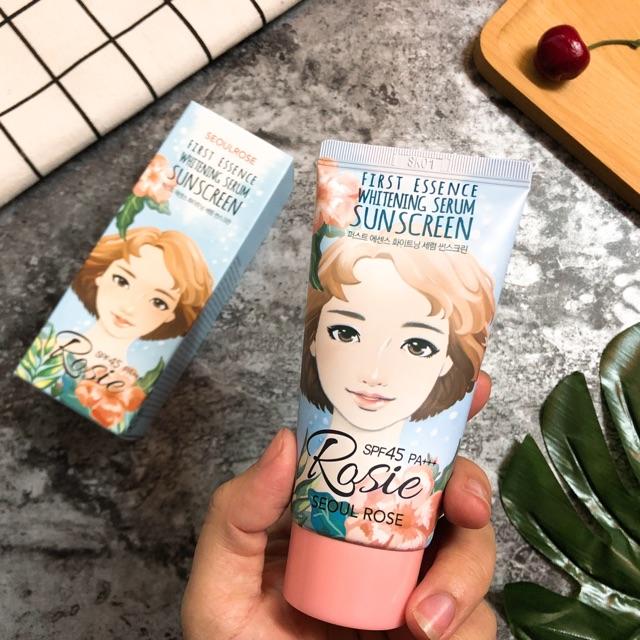 Kem chống nắng Rosie First Essence Whitening Serum Sunscreen - 3101256 , 1047788862 , 322_1047788862 , 220000 , Kem-chong-nang-Rosie-First-Essence-Whitening-Serum-Sunscreen-322_1047788862 , shopee.vn , Kem chống nắng Rosie First Essence Whitening Serum Sunscreen