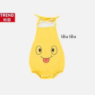 [Mã TREND20 giảm 15% đơn 99K] Yếm đào mặt cười cho bé trai, bé gái, trẻ sơ sinh màu vàng michley