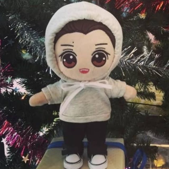 Hoodie Trắng Ngà cho doll 20cm