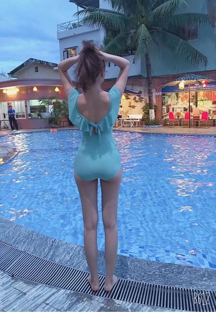 Bộ bơi cánh tiên liền xanh mint