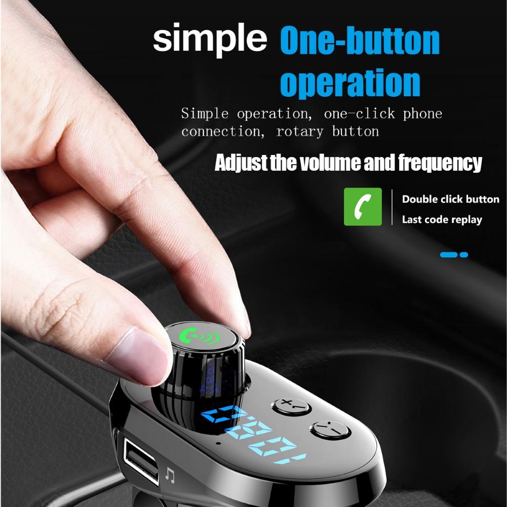 Máy Nghe Nhạc Mp3 Kết Nối Bluetooth 5.0 Kèm Phụ Kiện Cho Xe Ô Tô