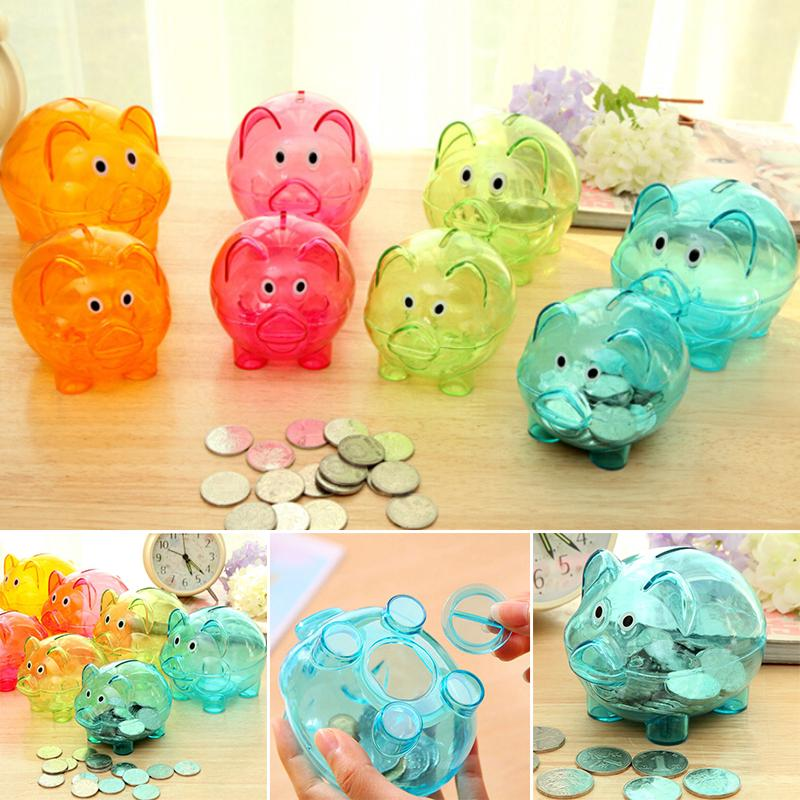 Cute Piggy Bank Coin Money Cash Collectible Saving Storage Box Toy for Children