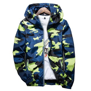 Ready Stock Macheda 2020 New Autumn Men Bomber Casual Thin Hooded 3M Reflective Summer Camouflage Men S-4Xl Jackets Party Clothing
