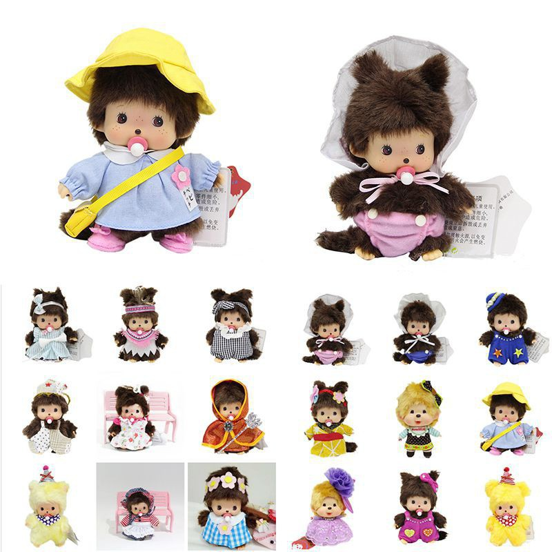 15cm Kawaii Monchhichi Soft Toys Cute Stuffed Toy Kids Xmas Gifts Plush Doll Animal Baby Gift