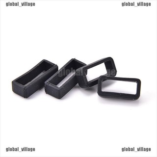 [global] 2pcs 14mm-26mm Rubber Silicone Watch Band Loop Strap Small Holder Locker Keeper [village]