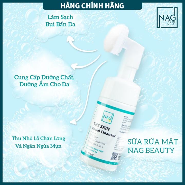 [SẢN PHẨM CHÍNH HÃNG] Sữa rửa mặt cho da nhạy cảm-The Skin Facial Cleanser NAG Beauty - 100ML