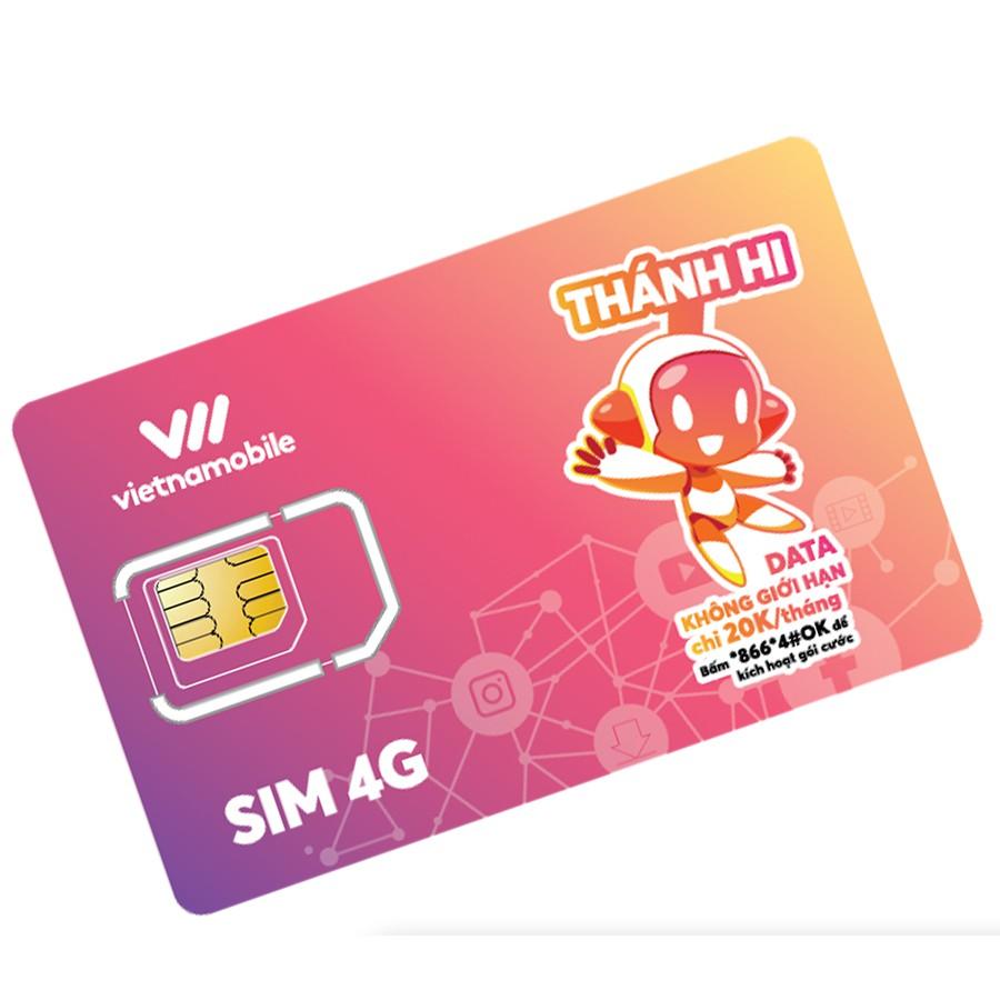 Thánh Hi Sim Hoàn toàn miễn phí Data 4G Vietnamobile Thoại SMS Nội mạng chỉ 30K/tháng