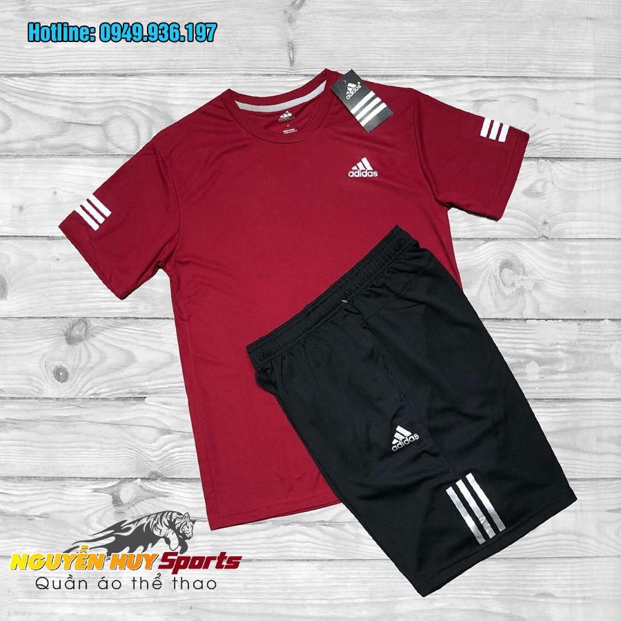 Bộ quần áo thể thao nam Adidas cổ tròn