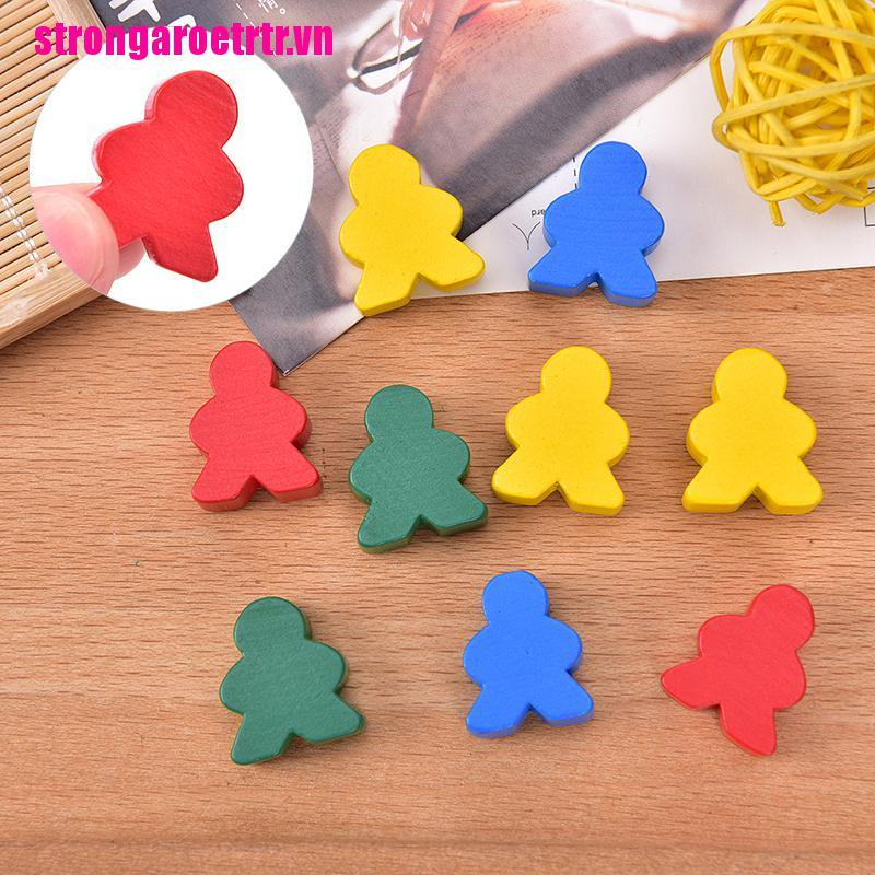【GOOD】30 PCS Wooden Chess Mixed Color Standard Size For Board Game Accessories