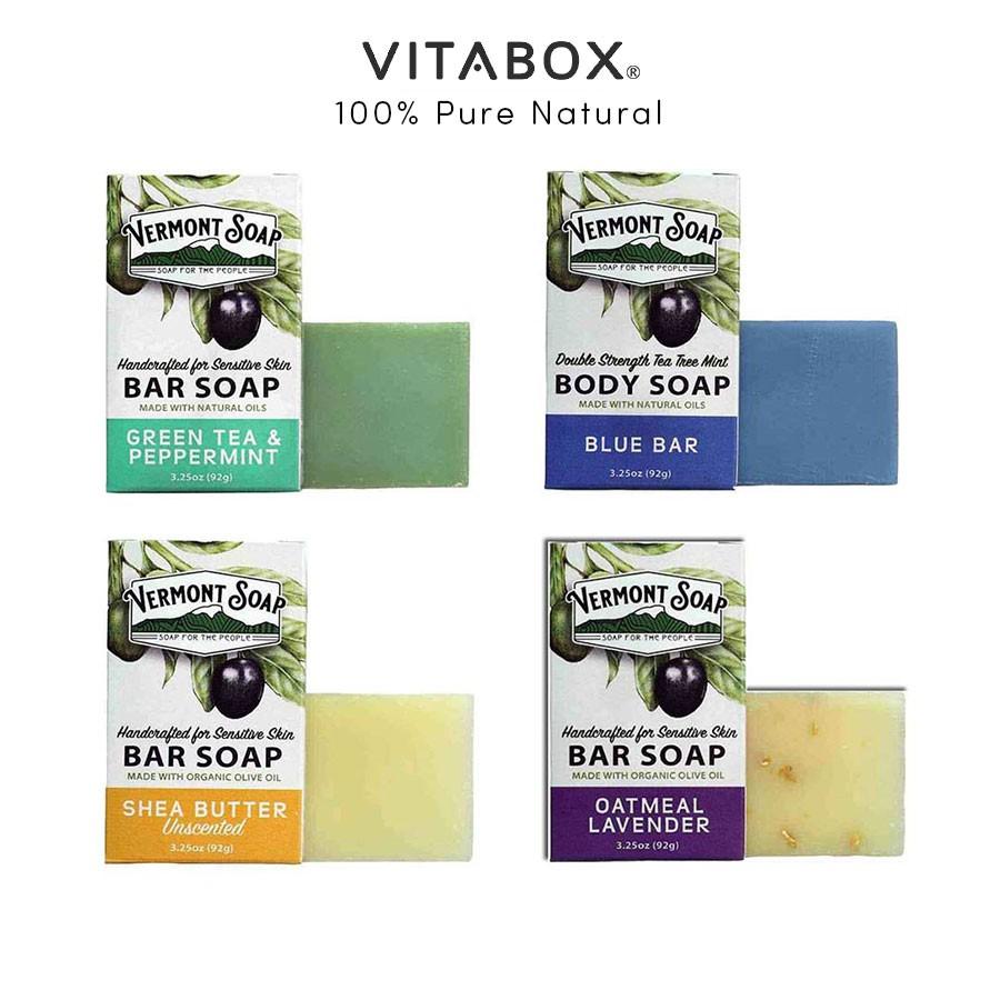 Vermont Soap - Xà Phòng Hữu Cơ Chăm Sóc Da Dầu, Khô và Nhạy Cảm - Organic Bar S.oap