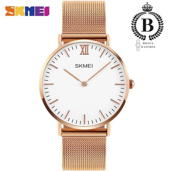 Đồng hồ Nam SKMEI 1181 [Billux] dây lưới - 40mm (3 màu) - đồng hồ sang trọng, lịch sự
