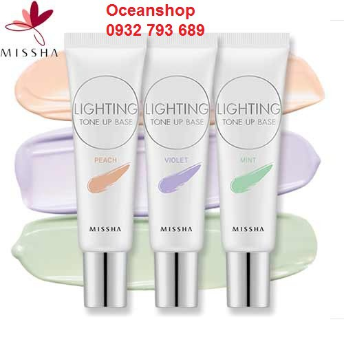 Kem lót Missha Lighting Tone Up Base SPF30 PA ++ về hàng SALE 50% (Bill mua ảnh bên cạnh)