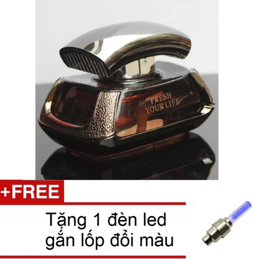 Nước hoa ô tô cao cấp mát nhẹ HQ206105 + Tặng 1 đèn led gắn vav xe đổi màu 206131