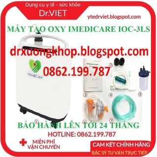 MÁY TẠO OXY IMEDICARE IOC-3LS- Cung cấp oxy tại nhà cho người già, bệnh nhân khó thở, tức ngực, bệnh hô hấp, hen suyễn thumbnail