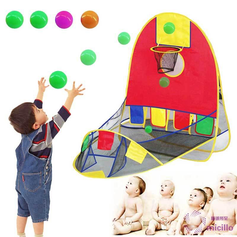 Micillo★★ Kids House Basketball Basket Tent Beach Lawn Tent Ball Pool Indoor&Outdoor Sport Best Kid Toys