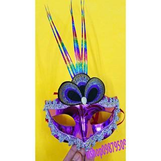 mặt nạ lông vũ -d82 shop matnaxuong