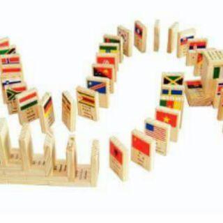 [Shopee Trợ Giá] 100 Domino Cờ Các Quốc Gia Trên Thế Giới