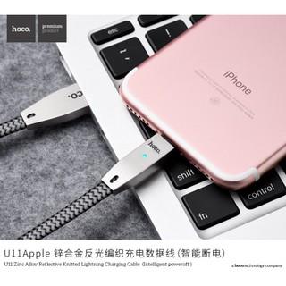 Cáp Sạc Nhanh Tự Ngắt Iphone Hoco U11