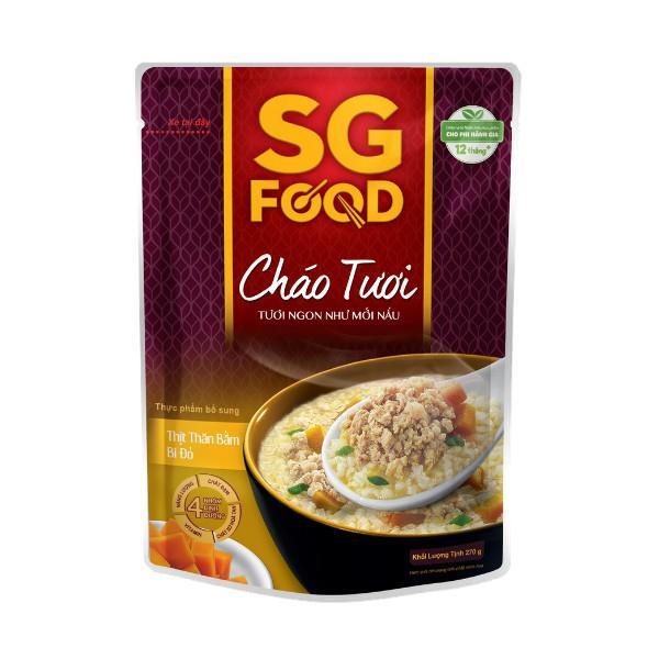 Cháo tươi Sài Gòn Food Thịt thăn bằm & Bí đỏ 270g