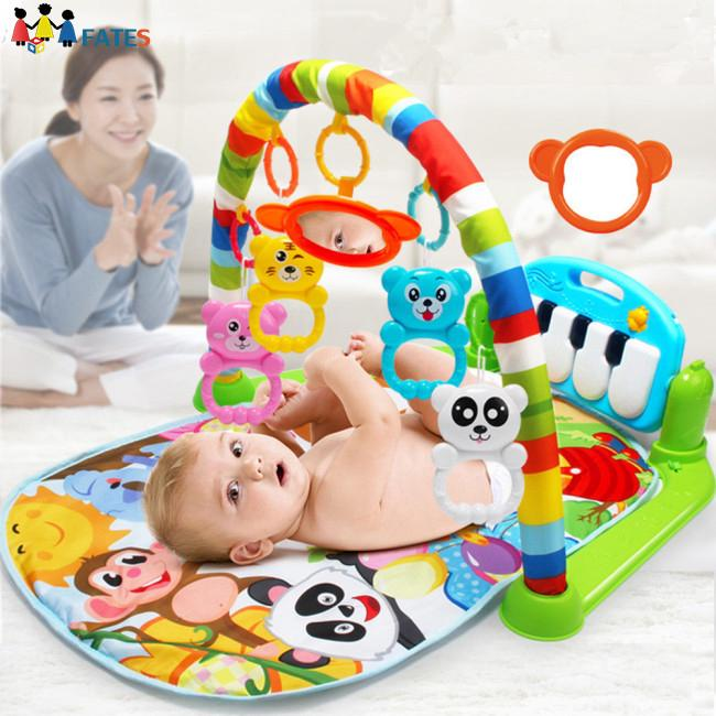 Baby Infant Music Pedal Piano Fitness Rack Crawling Mat Educational Toys