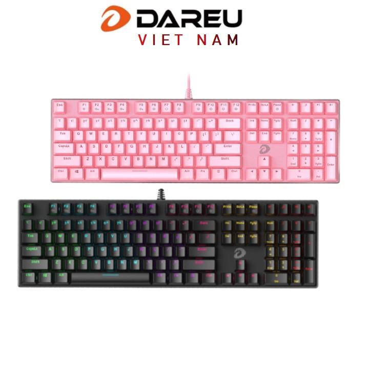 Bàn phím cơ Gaming DAREU EK810 Pink / Black (MULTI-LED, Blue/ Brown/ Red D switch)