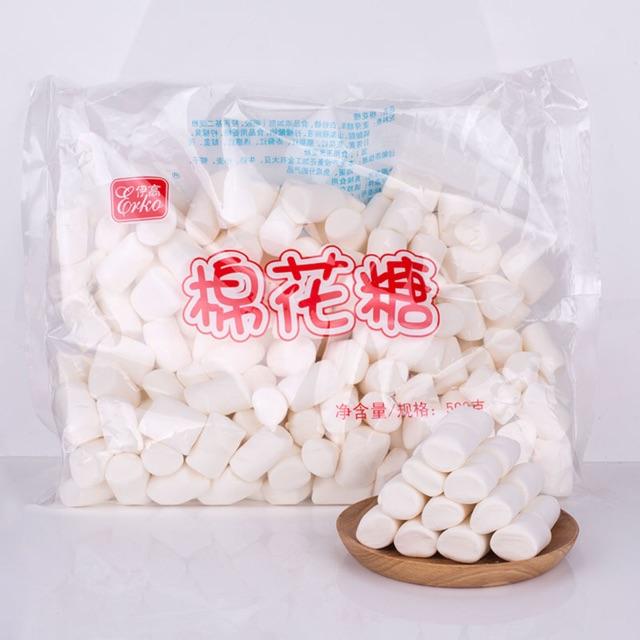 Kẹo bấc, kẹo marshmallow nougat trắng 500g