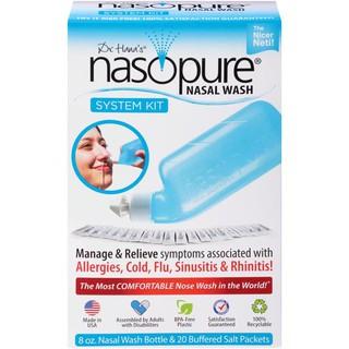Muối Rửa Mũi Nasopure – Sampler (hộp gồm: 1 Bình lớn 8oz + 4 muối)