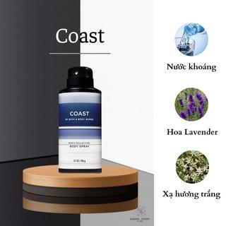 [Bath and Body Works] Xịt thơm toàn thân mùi COAST