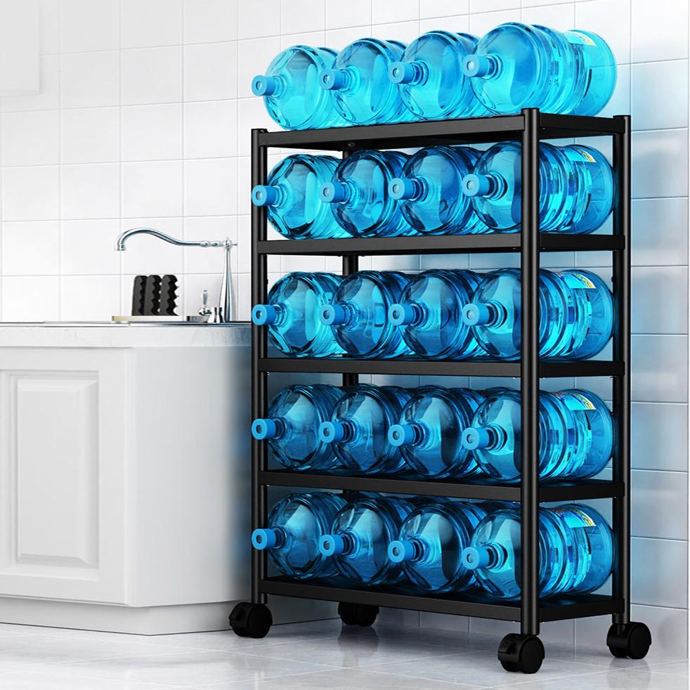 Kệ lò vi sóng 3,4,5 tầng Sơn Đen Đa Năng 2020 Kệ Inox nhà bếp, Giá Tủ để đồ thông minh