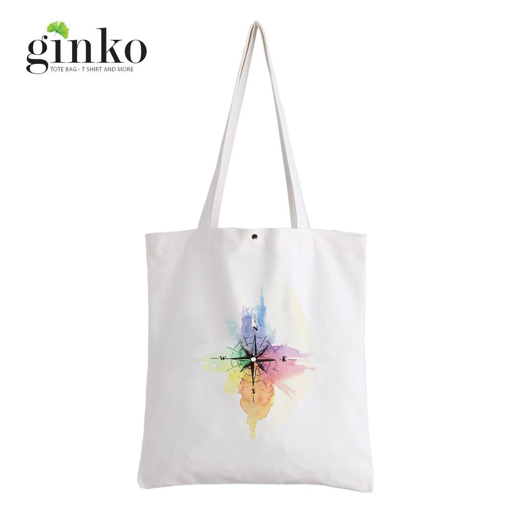 Túi Vải Tote GINKO Kiểu Basic In Hình la bà