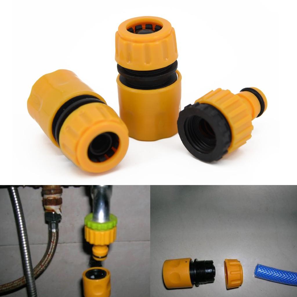 Đầu nối ống nước, đầu nối nhanh - Bộ 3 đầu nối vòi nước tưới cây ( phù hợp cho 3/4 và 1/2 tiêu chuẩn)