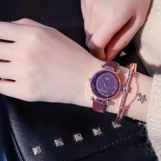 Đồng hồ nữ Doukou mặt kim tuyến ánh sao đêm chính hãng thumbnail