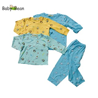 Bộ Đồ Thun Lạnh Tay Dài in Họa Tiết BÉ SƠ SINH TRAI BabyBean (6kg-15kg) thumbnail