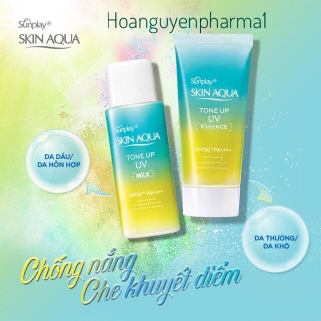 Chống nắng Sunplay Skin Aqua Tone up UV Essence/Milk 50gr - Essence