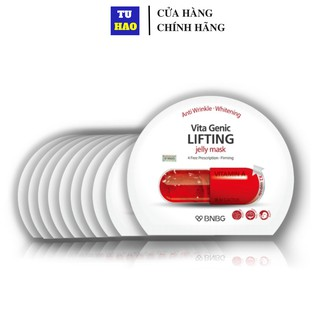 Combo 10 Mặt nạ dưỡng ẩm giúp nâng cơ và săn chắc da BNBG Vita Genic Lifting Jelly Mask (Vitamin A) 30ml x10