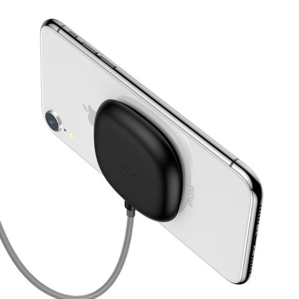 Đế sạc nhanh không dây mini chuẩn Qi Baseus hít vào mặt lưng điện thoại tại  Bình Thuận