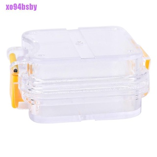 [xo94bsby]1pc Membrane plastic denture tooth box transparent tooth box plastic denture box
