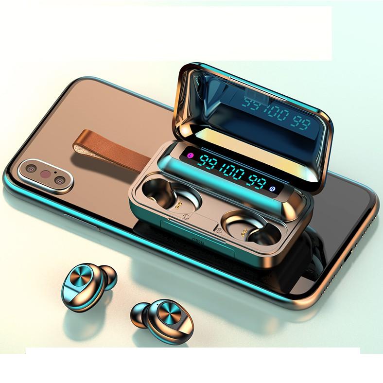 Tai nghe Bluetooth Amoi F9 version 10 , 3 màn hình LED, cảm ứng cao cấp