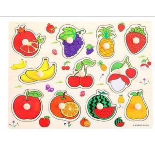 Bảng hoa quả núm gỗ 7021