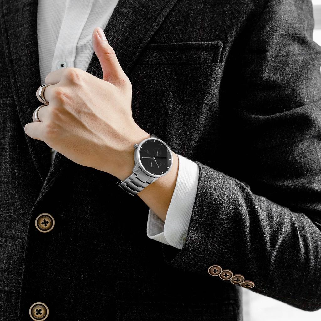 [Mã FARSBRCO7 giảm 10% đơn 500k] Đồng hồ nam Curnon Colosseum Mace dây kim loại chính hãng thiết kế thể thao nam tính
